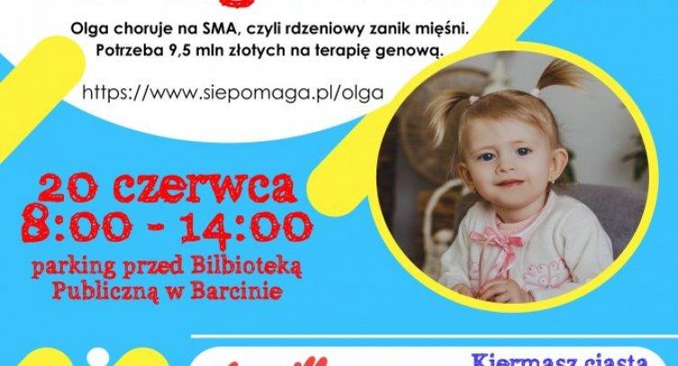 Plakat promujący Mini festyn dla Olgi Miśkiewicz
